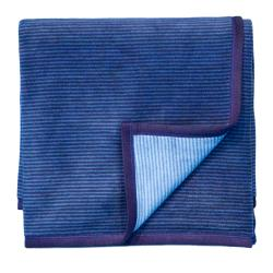 Bocasa Double Blue Woven Throw Blanket - Thumbnail 1