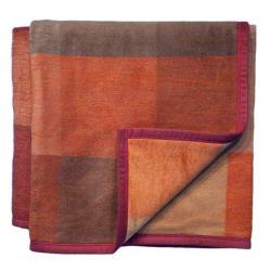 Bocasa Focus Red Woven Throw Blanket - Thumbnail 1