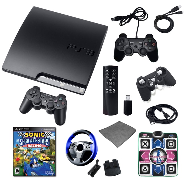 Playstation 3 160GB Ultimate Bundle with Sonic Racing, Wheel, Remote, and Much More