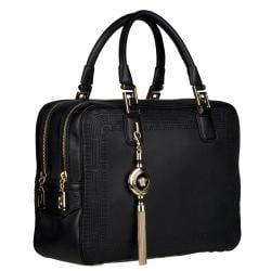 Versace Black Leather Satchel - Thumbnail 1
