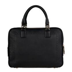 Versace Black Leather Satchel - Thumbnail 2