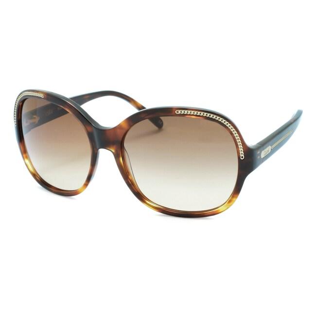 Chloe Women's 'Alysse' Tortoise Fashion Sunglasses