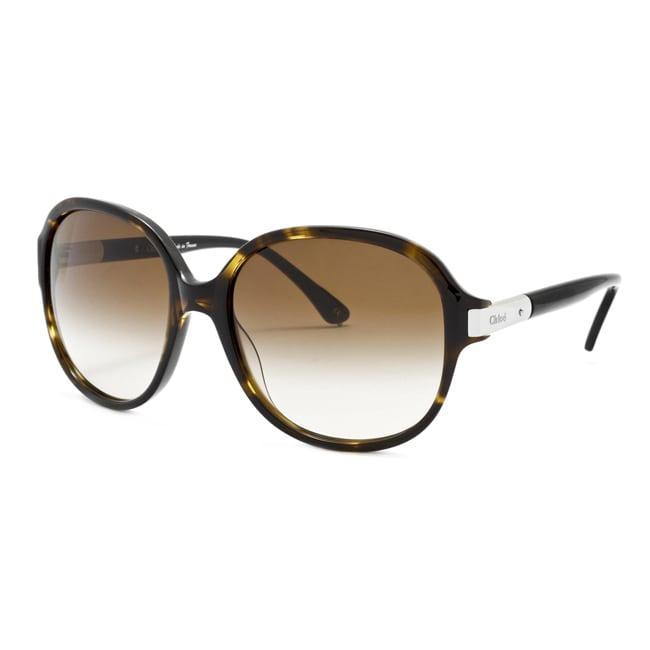 Chloe Women's 'Ammi' Tortoisse/ Brown Gradient Fashion Sunglasses