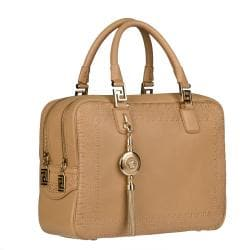 Versace Beige Leather Perforated Satchel - Thumbnail 1