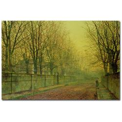 John Grimshaw 'In the Golden Glow of Autumn' Canvas Art - Thumbnail 0