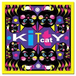 Grace Riley 'Kitty Cat' Canvas Art