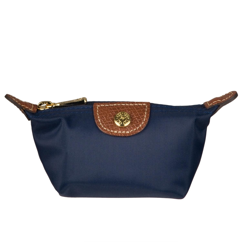 328df2993331 Shop Longchamp Le Pliage Navy Blue Nylon Coin Purse - Free Shipping ...