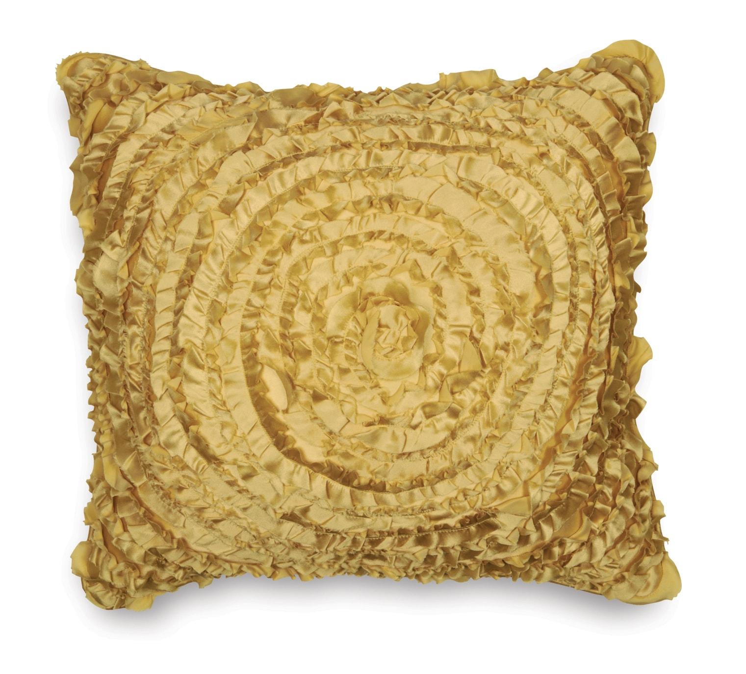 Victoria Dupioni Silk Gold Throw Pillow