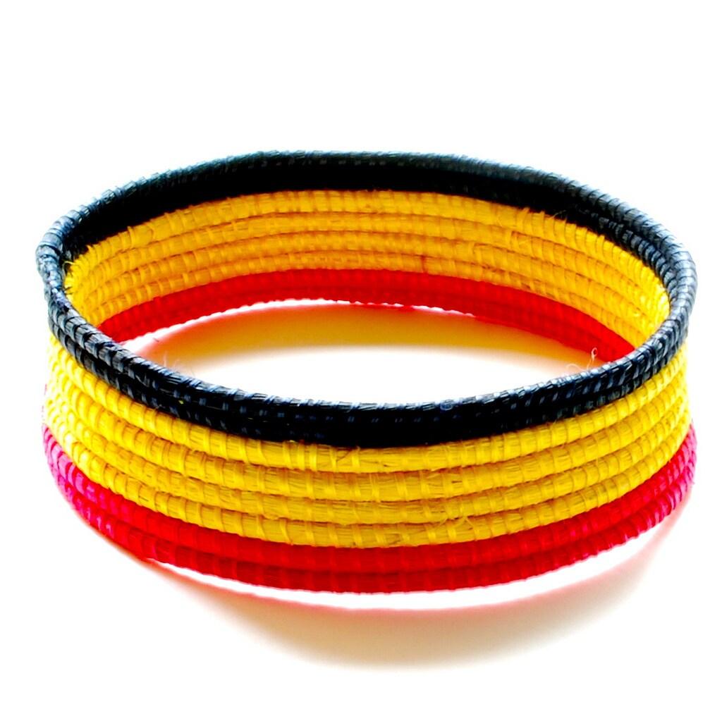 Sisal Fiber Woven Bangle Bracelet (Rwanda)