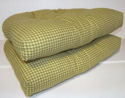 Mini Check Reversible Chair Pad (Set of 2)