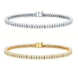 14k Gold 15ct TDW Diamond Tennis Bracelet (I-J, I1-I2)
