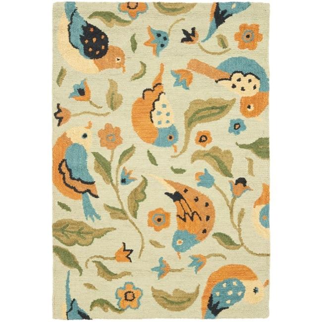 Safavieh Handmade Blossom Swallow Sage Wool Rug (4' x 6')