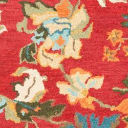 Safavieh Handmade Blossom Red Wool Rug (3' x 5')