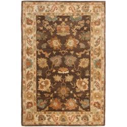 Safavieh Handmade Zeigler Brown/ Ivory Hand-spun Wool Rug (3' x 5')