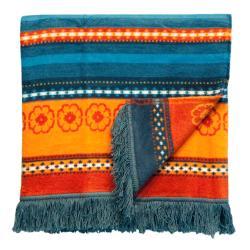 Bocasa Oleana Blue Woven Throw Blanket - Thumbnail 1