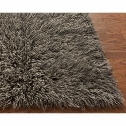 Hand Woven Alexa Standard Flokati Wool Shag Rug 8 X 10