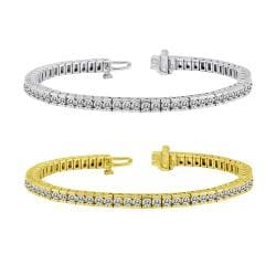 14k Gold 11ct TDW Diamond Tennis Bracelet (J-K, I1-I2)