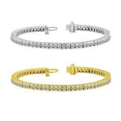 14k Gold 11ct TDW Diamond Tennis Bracelet (J-K, I1-I2)