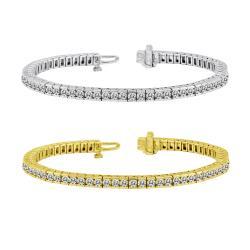 14K Gold 3ct TDW Diamond Tennis Bracelet