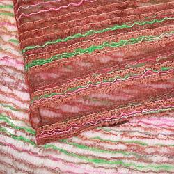 Hand-spun Green Waves Silk Scarf (India) - Thumbnail 1