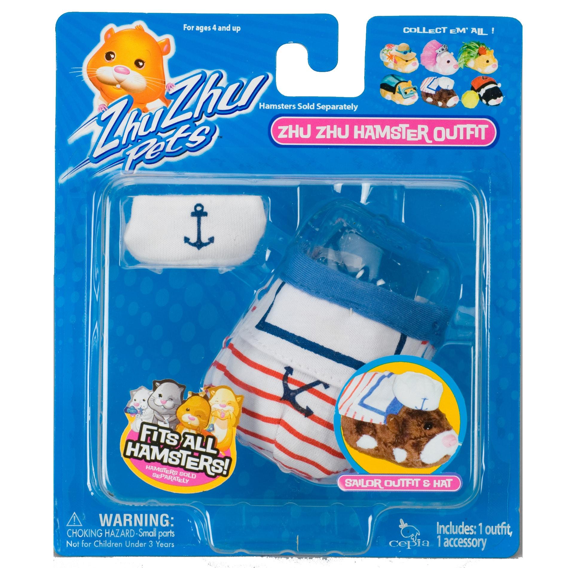 Zhu Zhu Pets Hamster Sailor Outfit