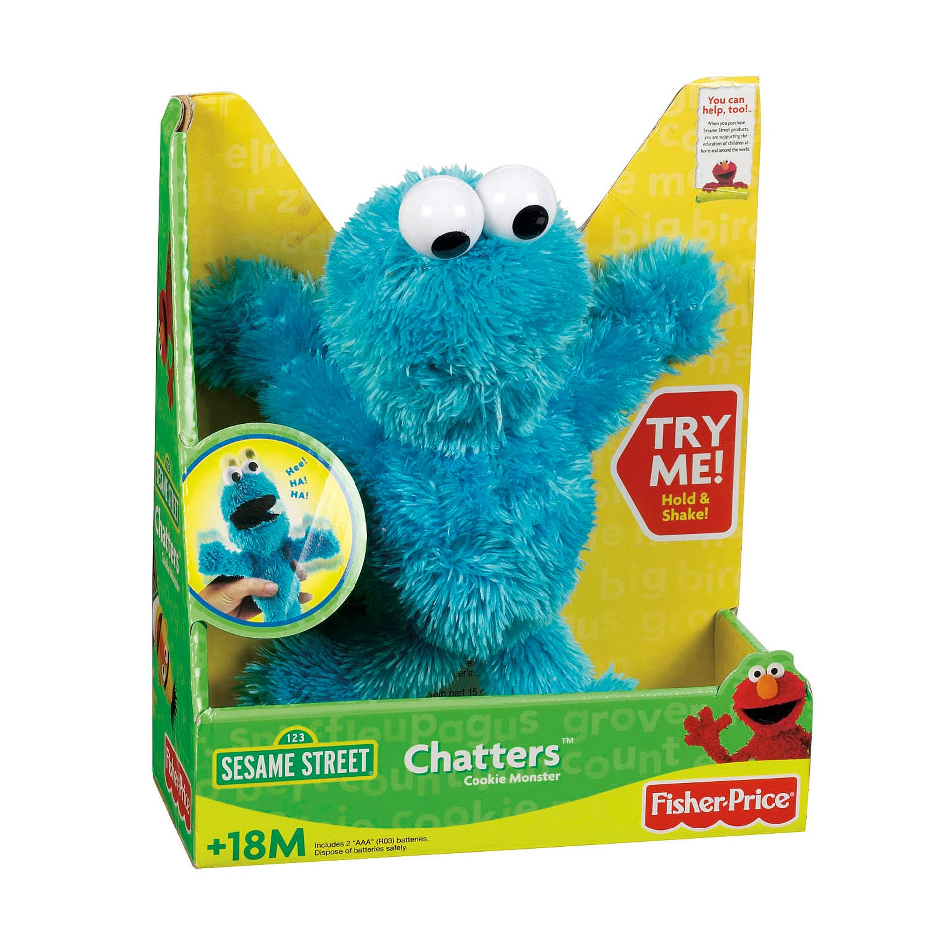 Sesame Street Cookie Monster Chatters Toy - Free Shipping