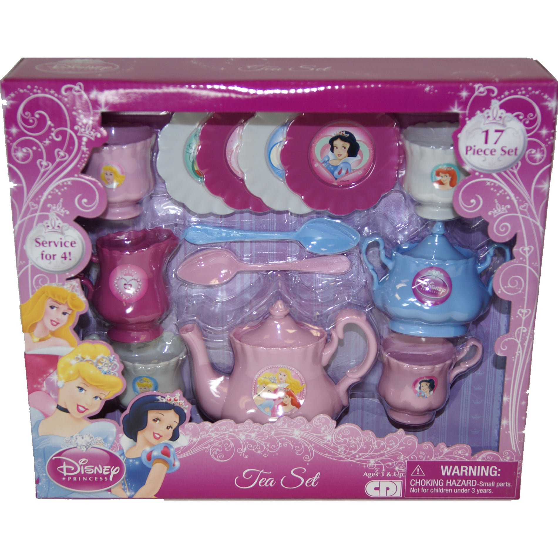 Disney Princess 17-piece Tea Set
