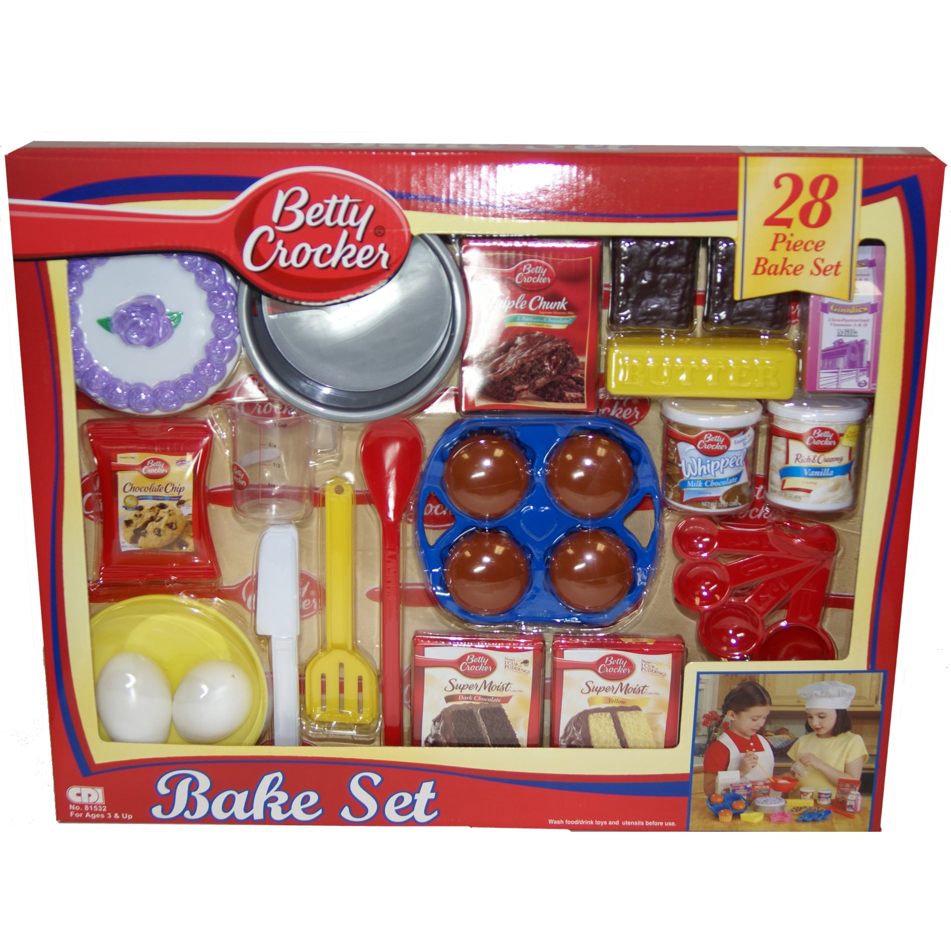Shop Betty Crocker 28 Piece Pastry Chef Play Food Bake Set