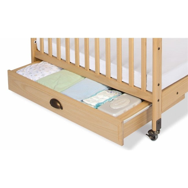 Foundations EZ Store Compact Crib Drawer in Natural