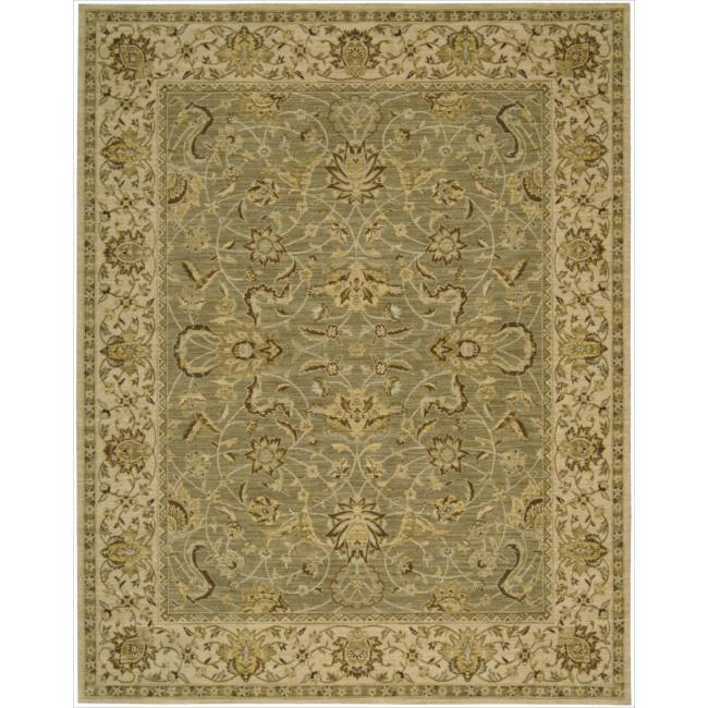Nourison Parthia Olive Floral Wool Rug (5'3 x 8'3)
