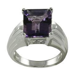 Gems For You Sterling Silver Amethyst Ring
