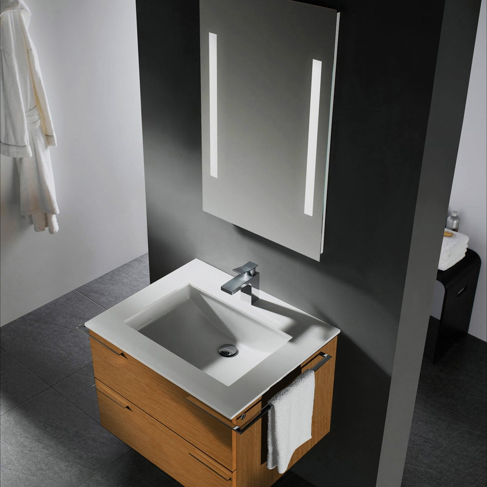 31 Beautiful Recessed Lighting Over Bathroom Vanity: VIGO 31-inch Single Bathroom Vanity With Mirror And Lighting System