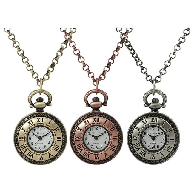 Geneva Platinum Women's Necklace Watch