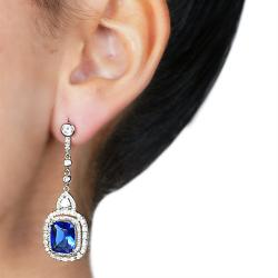 Stunning Blue Cubic Zirconia Earrings