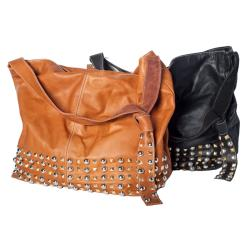 WE-GO by Mania Soft Leather Studded Bucket Bag - Thumbnail 1