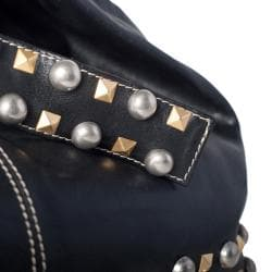 WE-GO by Mania Soft Leather Studded Bucket Bag - Thumbnail 2