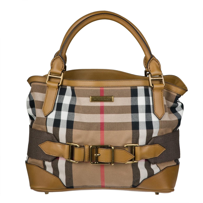 Shop Burberry Small Vintage House Check Tote Bag - Free Shipping Today -  Overstock.com - 6328176 56a4af7868e3e