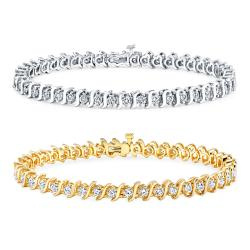 14k Gold 3ct TDW Diamond Tennis Bracelet (J-K, I2-I3)