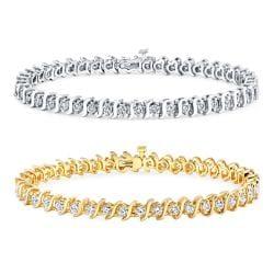 14k Gold 5ct TDW Diamond Tennis Bracelet (J-K, I2-I3)