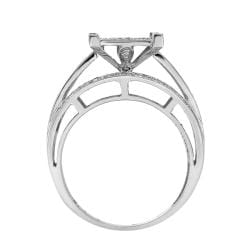 Sterling Silver 3/4ct TDW White Diamond Ring (G-H, I1-I2) - Thumbnail 1