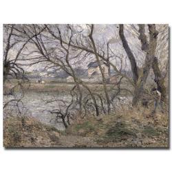 Camille Pissarro 'Oise Banks Pontoise 1878' Canvas Art