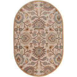 Hand-tufted Khingan Wool Rug (8' x 10' Oval)