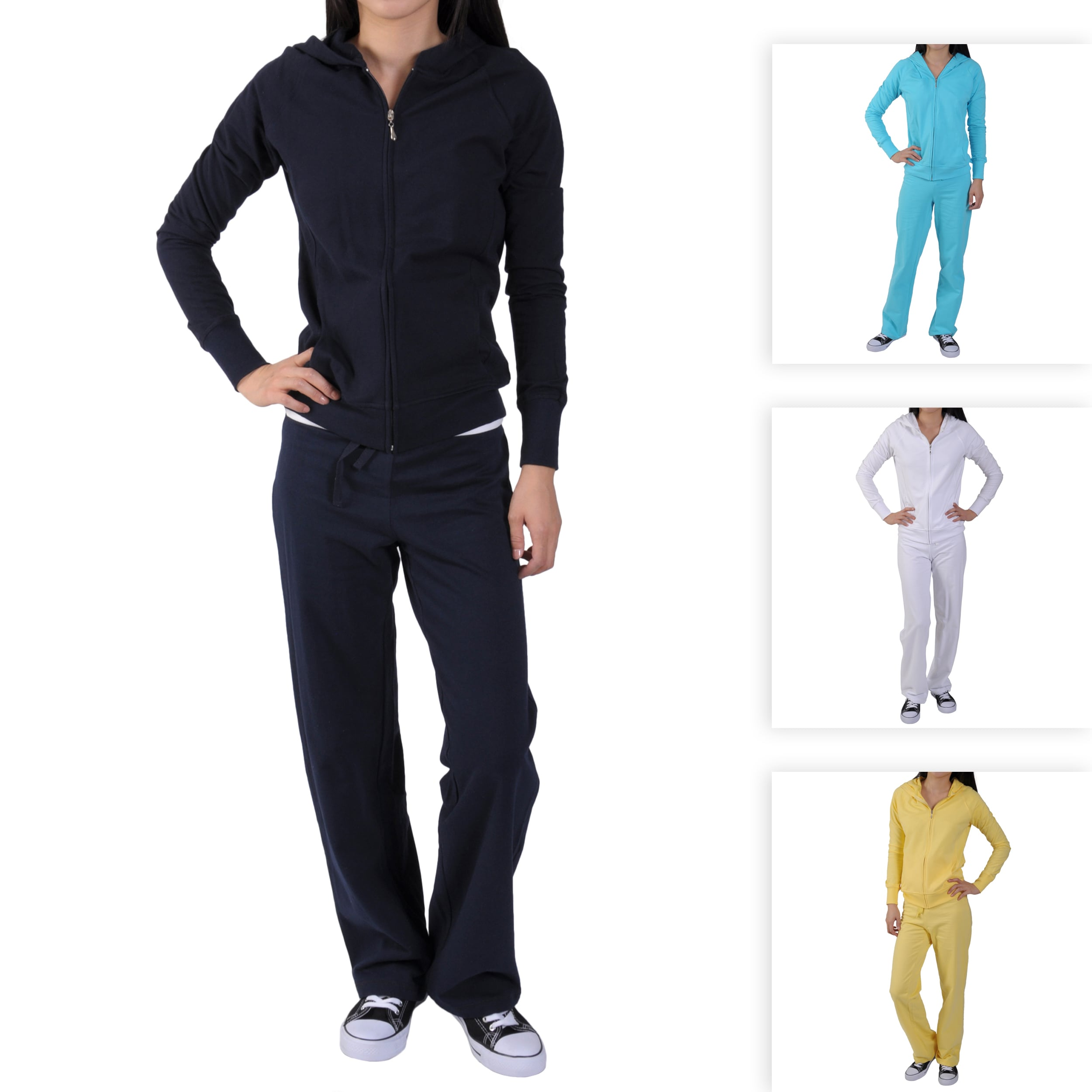 Hailey Jeans Co Junior's French Terry Hoodie Lounge Set