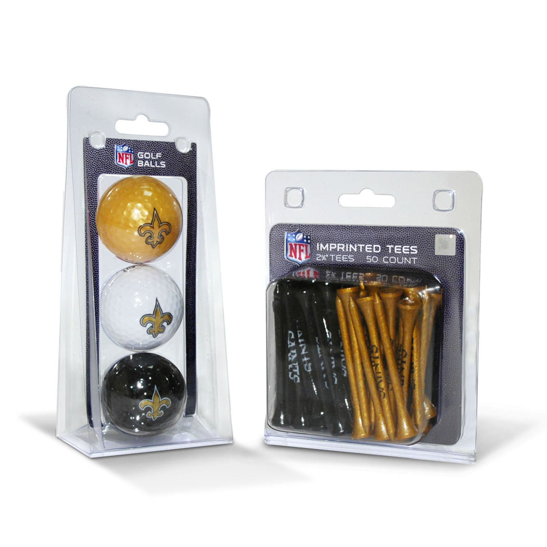New Orleans Saints NFL Golf Ball and Tee Set