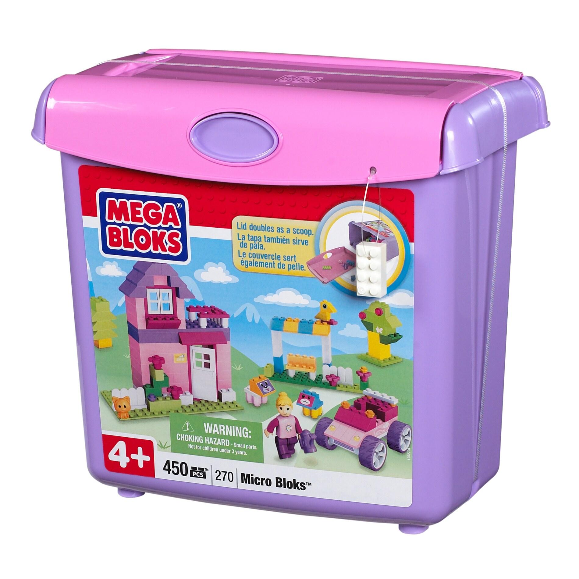 Micro Bloks Pink Scoop 'n Build Bucket Play Set