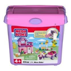 Micro Bloks Pink Scoop 'n Build Bucket Play Set - Thumbnail 2