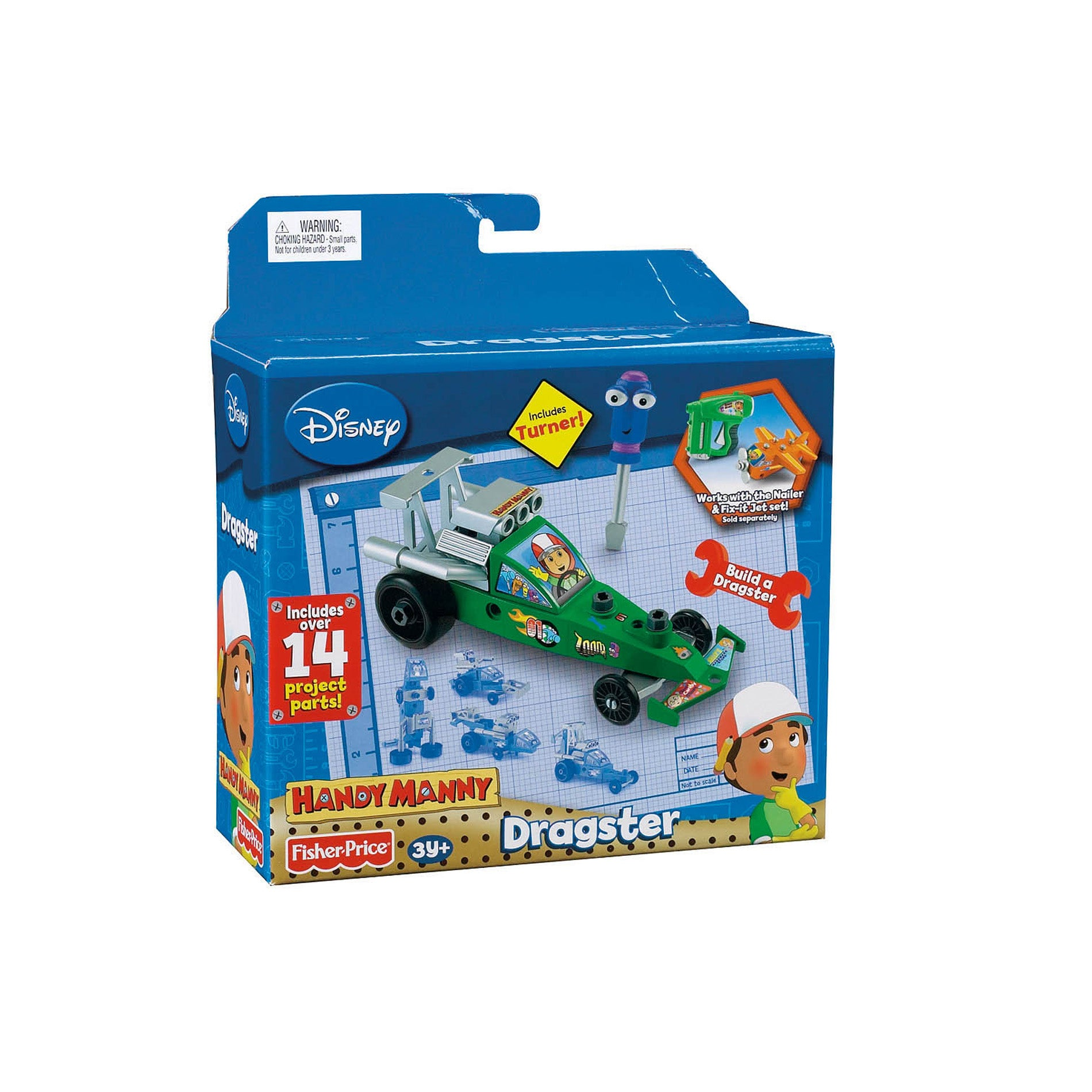 Fisher Price Manny the Dragster Play Set