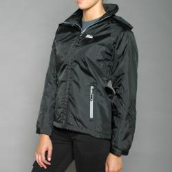 First Down Women's Black Hooded Tech Jacket - Thumbnail 1