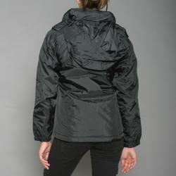 First Down Women's Black Hooded Tech Jacket - Thumbnail 2
