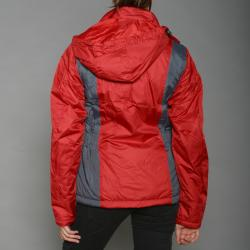 First Down Women's Red Two-tone Hooded Tech Jacket - Thumbnail 2